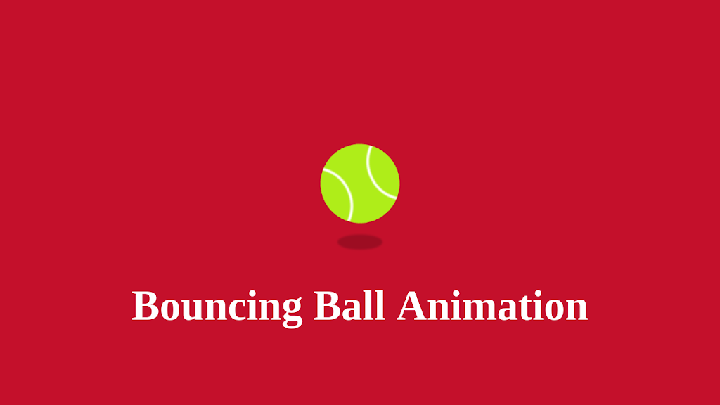 bouncing ball animation using css