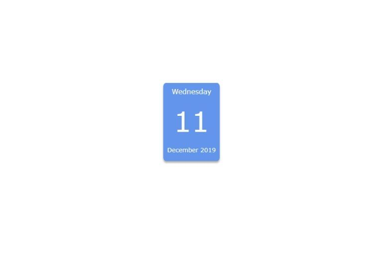 Simple Calendar with HTML 252C CSS and JavaScript