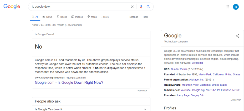 is google down
