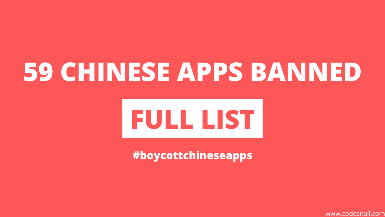 India Banned 59 Chinese Apps