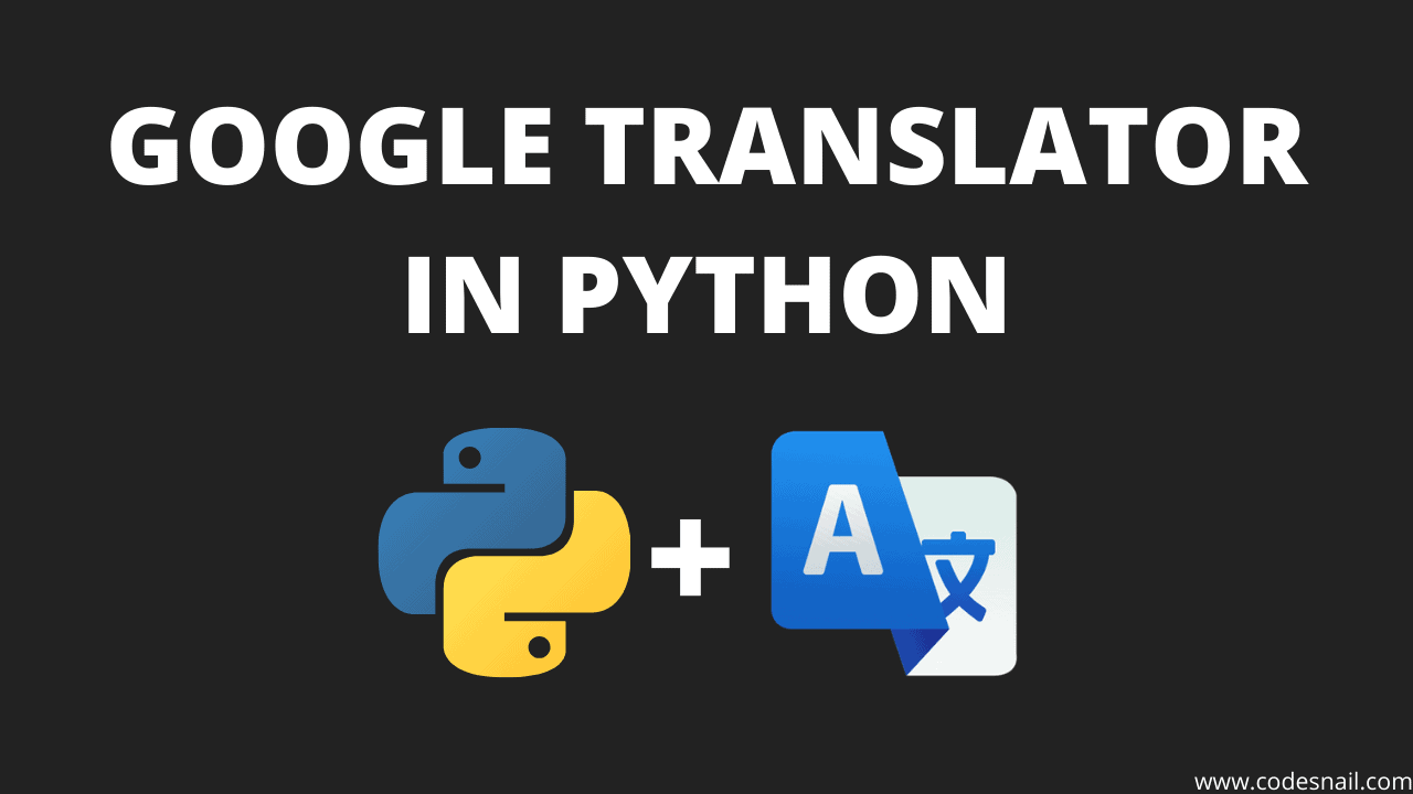 google translator in python