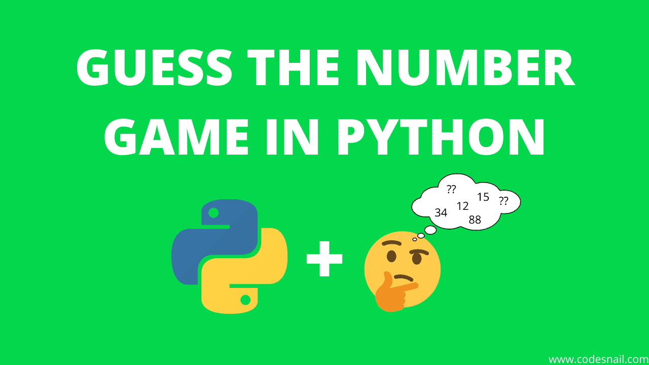 guess the number game in python