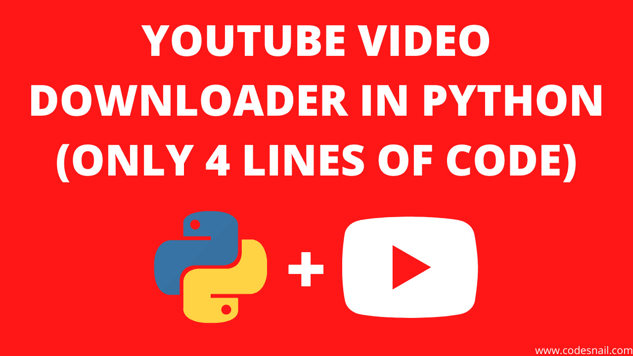 youtube video downloader in python