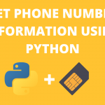 get phone number information using python