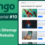 django blog tutorial adding sitemap to the website in django blog 10