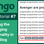 django blog tutorial adding tagging functionality in the django blog 7
